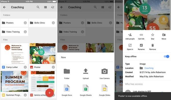 Google Drive for iOS更新体验更顺畅